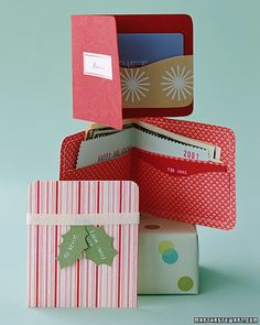 DIY:: Gift Wallet in the form of a card.  Great card for holding a cash gift.