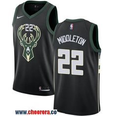 dcb74a4b6 Nike Milwaukee Bucks  22 Khris Middleton Black NBA Swingman Statement  Edition Jersey