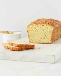 "Buttermilk gives this cheesy quick bread a subtle tang and keeps it nice and moist. Serve with plenty of butter. Martha made this recipe on ""Martha Bakes"" episode 713."