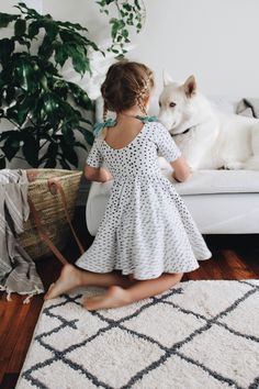 Girls Dress by Alice and Ames. Pigtail Sets by Free Babes Handmade. Classic bows for epic every day adventures.