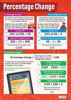 Percentage Change Poster