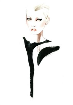 Fashion illustration for Marques Almeida; stylish fashion drawing // Antonio Soares