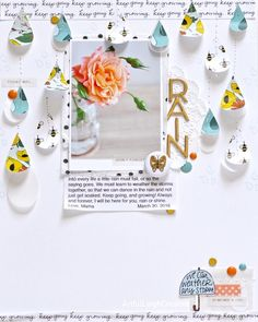 Rain by scrappyleigh at @studio_calico love this journaling!