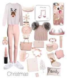 """""""Christmas is here!!💗"""" by anisiabt on Polyvore featuring adidas, Casetify, Eugenia Kim, John Lewis, Michael Kors, Charlotte Russe, MAC Cosmetics, Ted Baker, Tory Burch and Too Faced Cosmetics"""