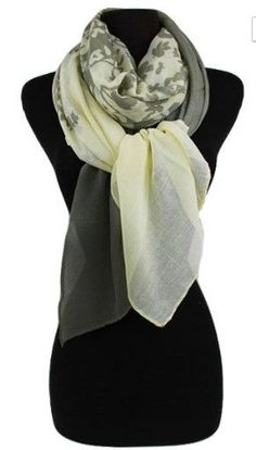 Taupe floral shade scarf or wrap. 100% Polyester - Hassle-free 7 day return…