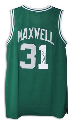 c5ae89b93 Cedric Maxwell Boston Celtics Autographed Green Jersey with COA