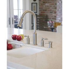 Merveilleux Shop Moen Aberdeen Stainless 2 Handle Pull Down Kitchen Faucet At Lowes.com