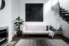 Graffiti Decorated Living Room Belgian Linen Angelina Sofa Home Decor Ideas