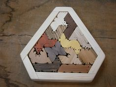 Unique Gift Hexiamond Triangle Frame 5000 by scrollwoodshop Colorful Animals, Unique Animals, Easy Crafts, Diy And Crafts, A Touch Of Zen, Wooden Playset, Wood Games, Maths Puzzles, Triangle Design