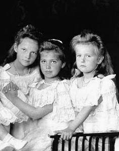 Grand Duchesses Tatiana, Marie and Anastasia
