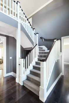 White Stairs With Carpet Railings Ideas , . - White Stairs With Carpet Railings Ideas , … White Stairs With Carpet Railings Ideas , Stair Newel Post, Stair Posts, Stair Banister, Newel Posts, Bannister, Railings For Stairs, Wood Staircase, Carpet Staircase, Staircase Remodel