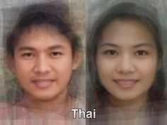 The typical Thai face from thousands and thousands of images of everyday people compiled together into one composite portrait. To see more, go here. http://www.mediadump.com/hosted-id167-average-faces-from-around-the-world.html