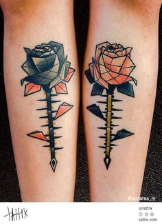 tattrx- Aivaras Ly Tattoo - Roses and Thorns