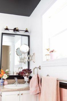 Hot Pink Bathroom #BabyPinkBathroom #Bathroomart