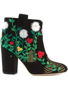 Laurence Dacade Embroidered Ankle Boots - Pozzilei - Farfetch.com