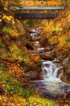 Franconia Notch State Park, New Hampshire.  Mountain Stream by Ken Smith