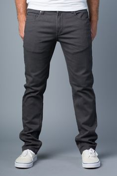 {Polychrom} Grey is the New Black Skinny-Slim Jean