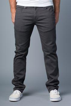{Polychrom} Grey is the New Black Skinny-Slim Jean