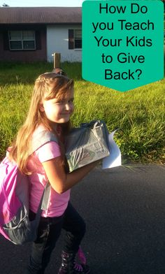 How do you teach your kids to give back #partent #tips