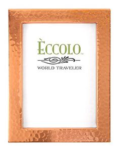 Eccolo Copper Collection Photo Frame 5 by 7 Raised Edge Wide ** You can find out more details at the link of the image.-It is an affiliate link to Amazon. #PictureFrames