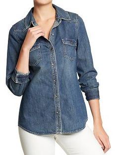 Women's Denim Western Shirts | Old Navy...want.