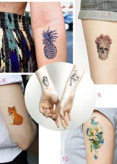 Etsy - tatouages éphémères