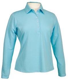 Ladies Long Sleeve Golf Shirt by Bermuda Sands Apparel - Beverly.  Buy it @ ReadyGolf.com Bermuda Sands, Womens Golf Shirts, Ladies Golf, Shirt Dress, Lady, Long Sleeve, Mens Tops, Style, Fashion