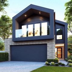 Seller Referral in your market! Check out our website to see how we generate thousands of seller leads :) Click the link! Exterior Wall Cladding, House Cladding, Facade House, Modern Townhouse, Townhouse Designs, Modern Brick House, Narrow House Designs, Cabin Style Homes, Modern Farmhouse Exterior