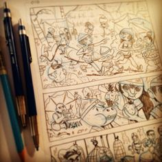"""mikelaughead: """"I haven't been posting sketches because I've been penciling a bunch of #acornhead pages. We are working on having a book for #spx2016 and #cxc2016 """" Coming soon!"""