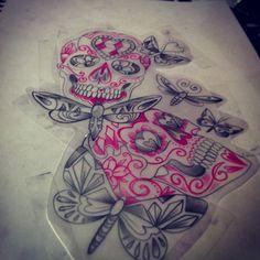 #sugar skull Omg. LOVE. Especially in my favorite color!