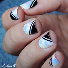 Nail art pastel, inspiré par la NPA Mouton.