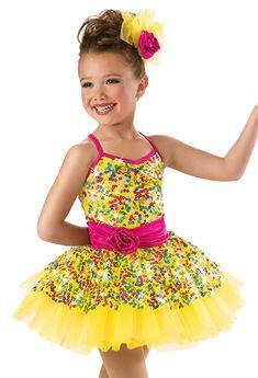 Rainbow Sequin Recital Dress -Weissman Costumes(walking on sunshine)