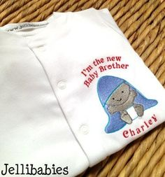 Baby brother  fun slogan babygrow sleepsuit
