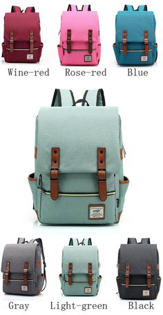 9ccfd88c8a87 Hot sale school backpack ! Vintage Travel Backpack Leisure Canvas With  Leather Backpack amp Schoolbag