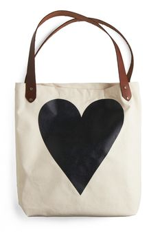 With All My Heart Tote | Mod Retro Vintage Bags | ModCloth.com