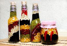 Resultado de imagen para decoración con frascos y botellas de vidrio