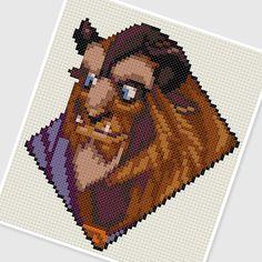 PDF Cross Stitch pattern  0023 Beast Beauty and by PDFcrossstitch