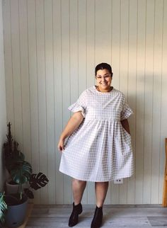 Another gorgeous #plumdress from one of our customers! #cwplumdress #cocowawapatterns #sewing