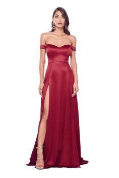 a19cef013c Surplice Pleated Low Cut Back Prom Dress by Alyce Paris
