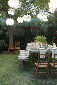 Comida familiar al aire libre | Decorar en familia | DEF Deco
