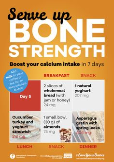 • • Boost your ‪#‎calcium‬ intake in 7 days • • Day 5 • • With today's tips you can reach up to 928 mg of calcium! Calcium is a major building block of your skeleton. Use the online IOF Calcium Calculator to estimate your average daily intake. If you are having trouble reaching your recommended levels, use these tips from the IOF Bone-friendly Recipes to easily boost your calcium, getting on track to stronger, healthier bones.