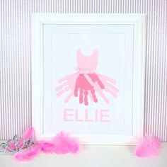 Personalised/personalized ballet handprint gift for a girls bedroom/nursery,  Christmas/birthday/birth,new baby, custom made, by ForeverCherishedxx on Etsy