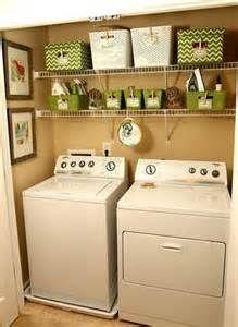 Small Laundry Room Organization Ideas - This looks just like my laundry closet! Small Laundry Rooms, Laundry Room Design, Laundry In Bathroom, Laundry Area, Closet Laundry Rooms, Small Apartment Closet, Laundry Closet Makeover, Tiny Closet, Basement Makeover