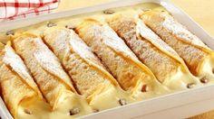 Gebackene Vanillecreme-Crêpes - German dessert recipe at its finest – Baked Vanilla Cream Crepes *** German Desser Recipe at its - Baking Recipes, Cake Recipes, Dessert Recipes, German Desserts, Breakfast Desayunos, Best Oven, Bon Dessert, Sweet Cakes, Food Cakes