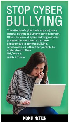 The effects of cyber bullying are just as serious as that of bullying done in person. Often, a victim of cyber bullying may not present the 'symptoms' as those experienced in general bullying, which makes it difficult for parents to understand if their kid is really a victim.