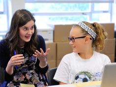 A 2010 Springer alumna who is now in college talked with students in the summer program, Adventures in Summer Learning, about her experience with a learning disability.