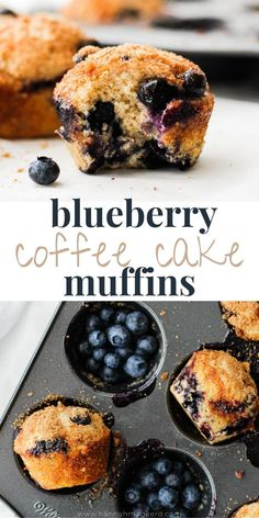 These blueberry coffee cake muffins dusted with a light cinnamon brown sugar topping are perfect for breakfast or snack! Pair with a delicious coffee, of course. #coffeecake #coffeecakemuffins #muffins #blueberrymuffins #blueberrycoffeecake #healthybaking Blueberry Banana Muffins Healthy, Banana Chocolate Chip Muffins, Blueberry Desserts, Healthy Muffins, Healthy Muffin Recipes, Healthy Baking, Healthy Eats, Breakfast Recipes, Dessert Recipes