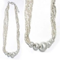 SG PARIS NECKLACE 49CM SILVER ARGENTE NECKLACE NECKLACE GLASS SUMMER WOMEN ETHNO GLAM FASHION JEWELRY / HAIR ACCESSORIES Z OTHERS $10.16