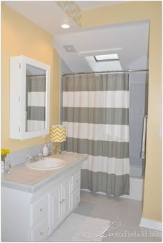 Love The Yellow And Grey Combination. Bathroom Theme IdeasGuest Bathroom  ColorsGray ...