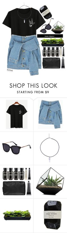 """#Romwe"" by credentovideos ❤ liked on Polyvore featuring Grown Alchemist, Victoria Beckham and Cassia"